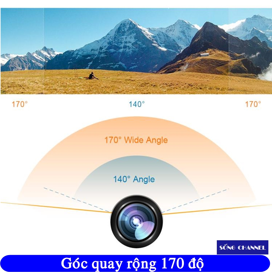 eken h9r có góc quay rộng 170 độ