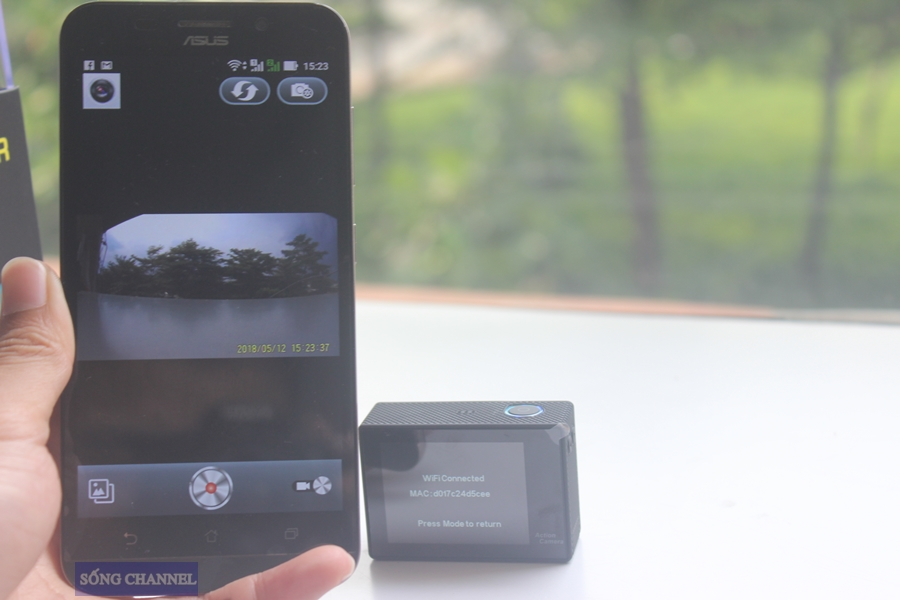 Kết nối với điện thoại qua quần mềm CANANY
