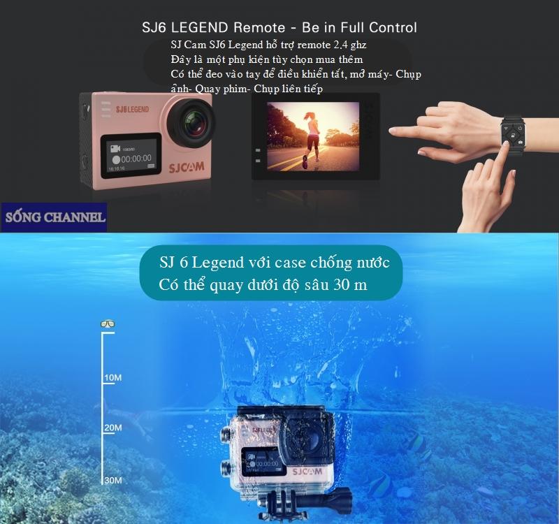 SJ6 Legend có vỏ chống nước, có thể quay dưới độ sâu 30m