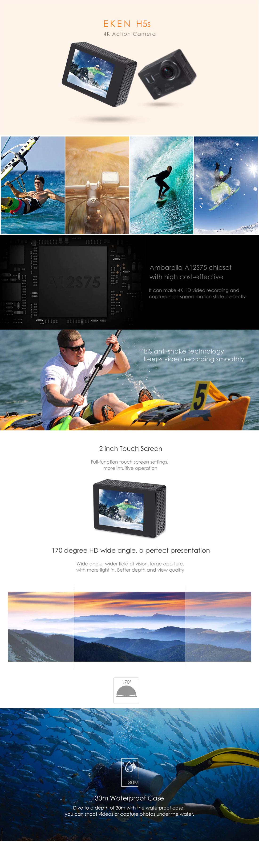 Eken H5S dễ dàng cho ra những thước phim mượt mà, như ý