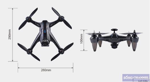 Kích thước của Flycam GW 198 GPS