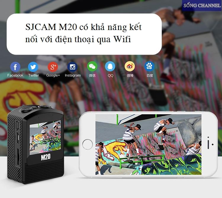 Sjcam M20 có khả năng kết nối với điện thoại