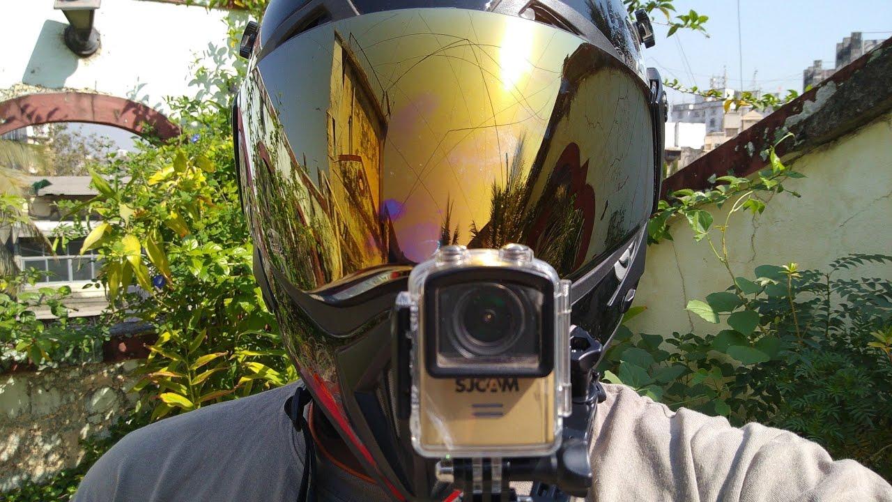 camera Sjcam M20 gắn trên nón bảo hiểm