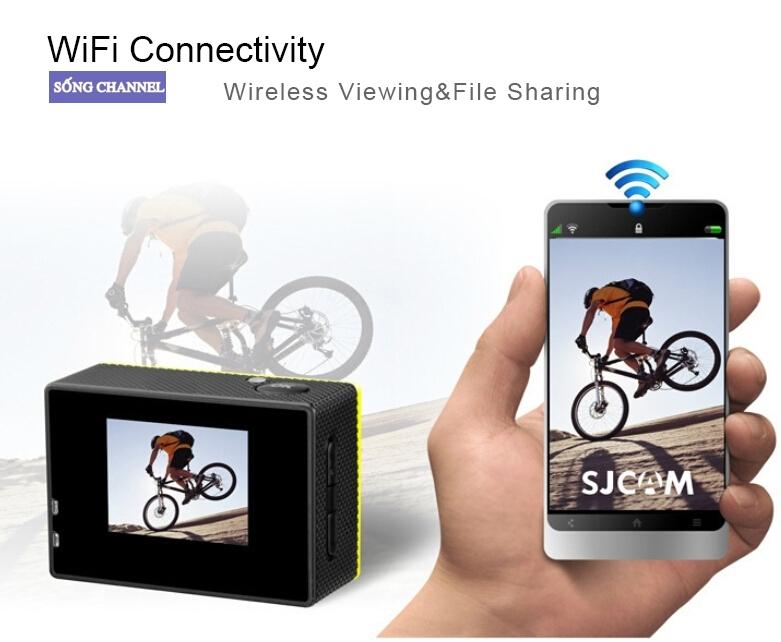 camera sjcam sj4000 wifi có khả năng kết nối vs điện thoại