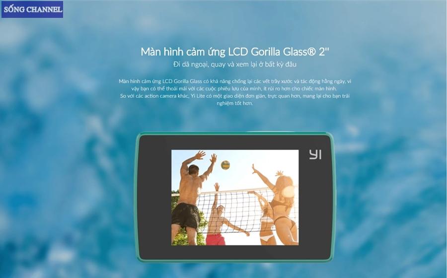 camera xiaomi yi lite có màn hình cảm ứng 2 inch