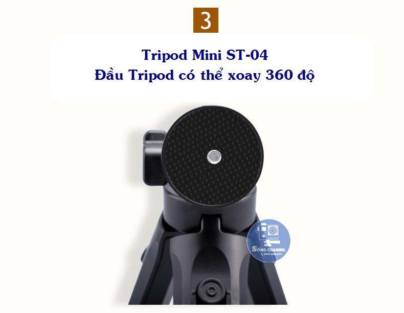 Tripod Mini ST-04- đầu xoay 360 độ