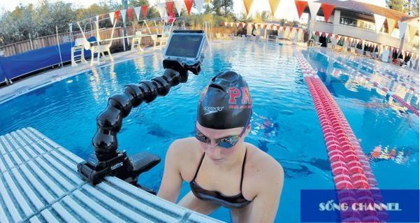 kẹp uốn dùng cho camera hành động, camera phượt, camera hành trình xe máy