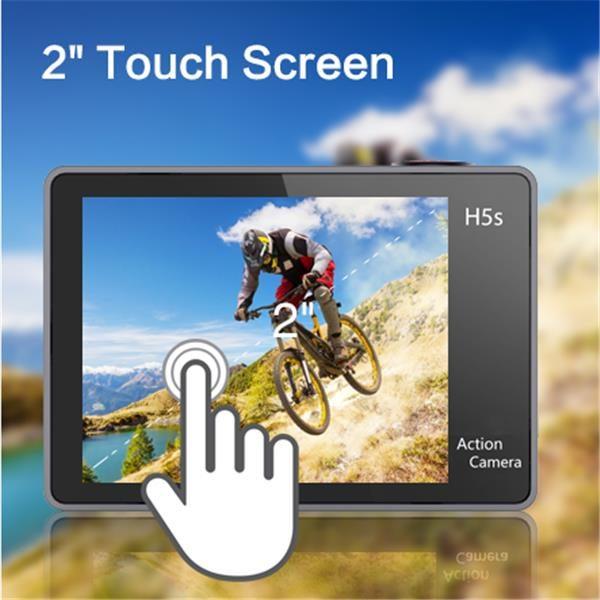 màn hình cảm ứng 2 inch cao cấp của Eken H5S