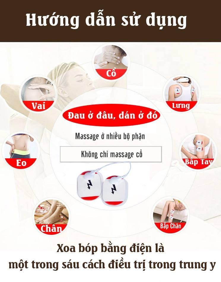 máy massage cổ 3D, với 6 chế độ, giảm đau, mỏi