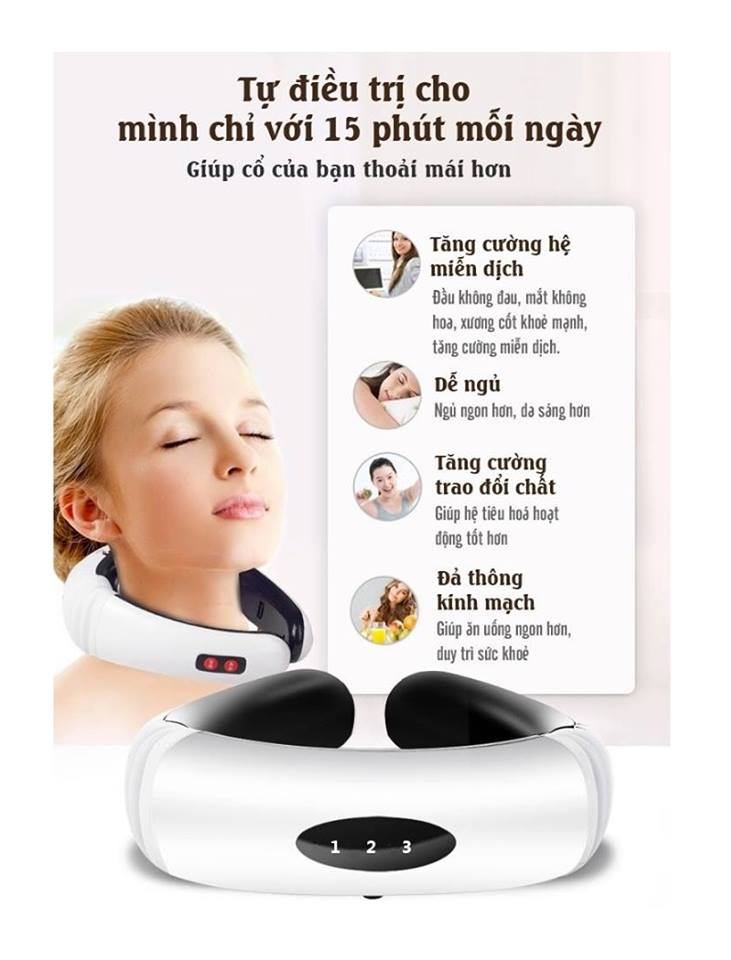 tác dụng tuyệt vời của máy massage cổ