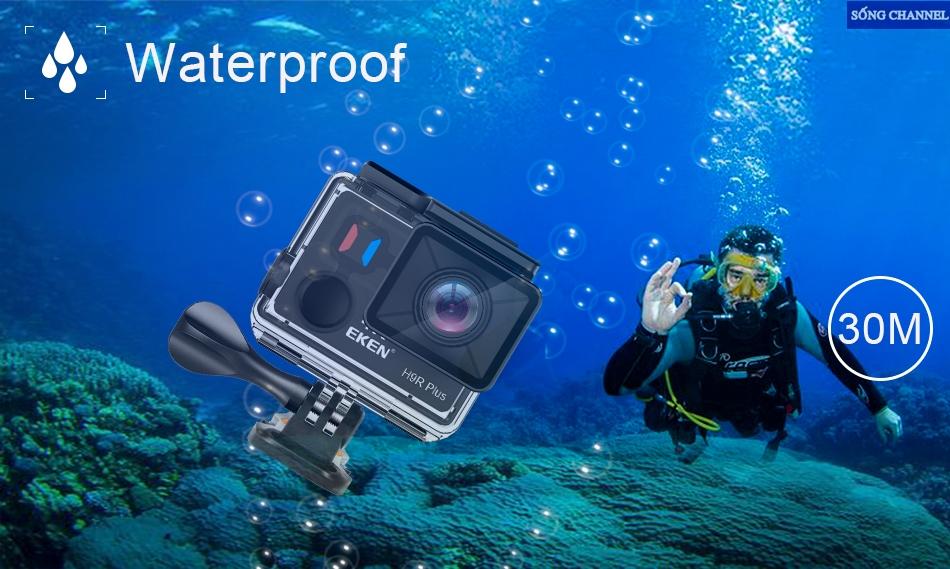 Eken H9R Plus có khả năng quay dưới độ sâu 30M