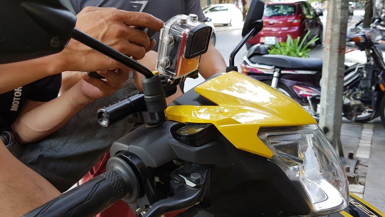 gắn camera sjcam M20 lên xe máy