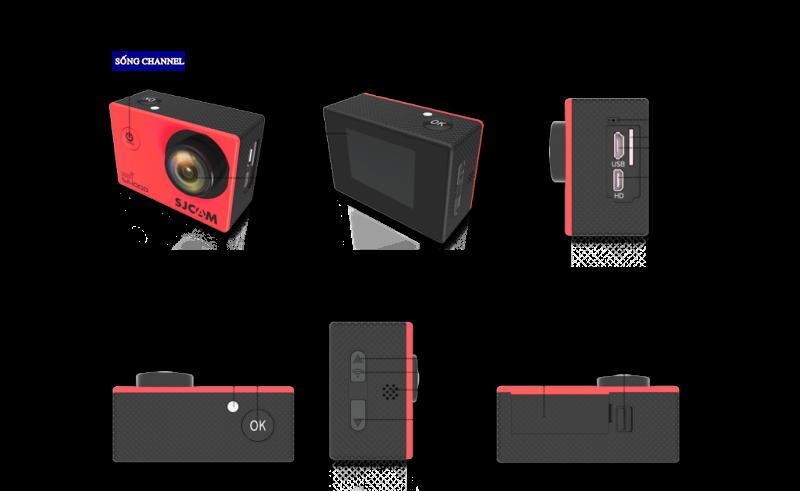 Cấu tạo camera sjcam sj4000 wifi