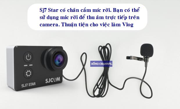 sj7 star có hỗ trợ cổng cắm mic thu âm rời