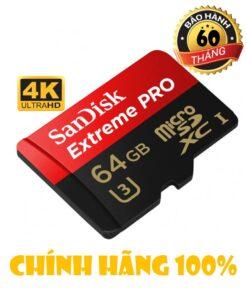 THẺ NHỚ SANDISK EXTREMER PRO U3 4K
