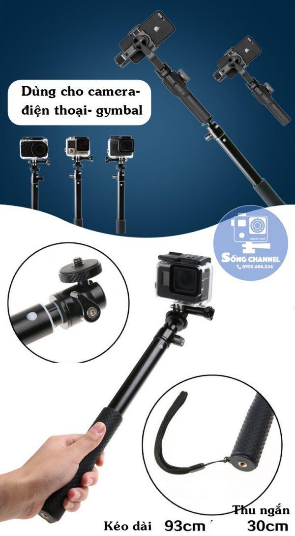 Gậy Selfie Cho Camera Hành Động, Điện Thoại SG-03