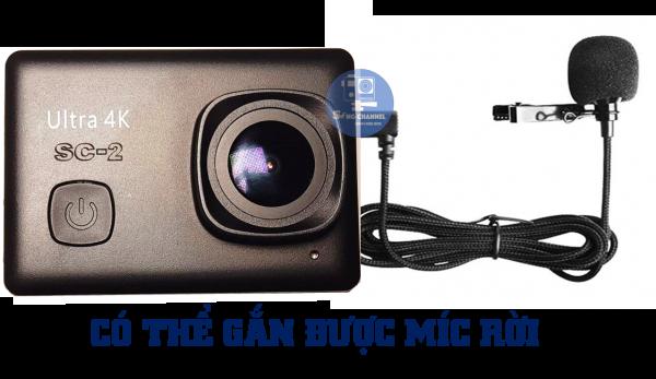 Camera SC-2 có thể gắn thêm được Míc Rời