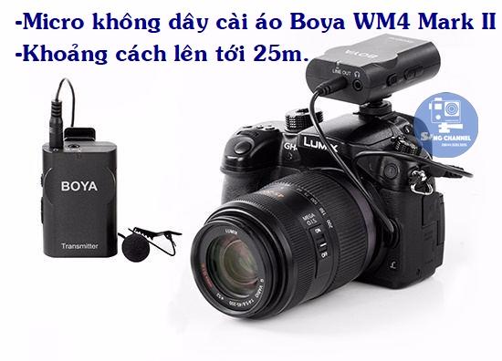 Micro cài áo không dây Boya WM4 M II