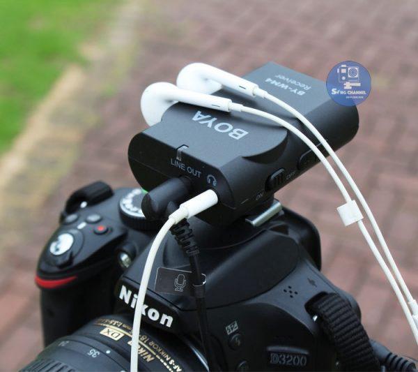 Micrao Boya MW4 MII còn hỗ trợ giắc cắm tai nghe, để nghe âm thanh thu được như thế nào