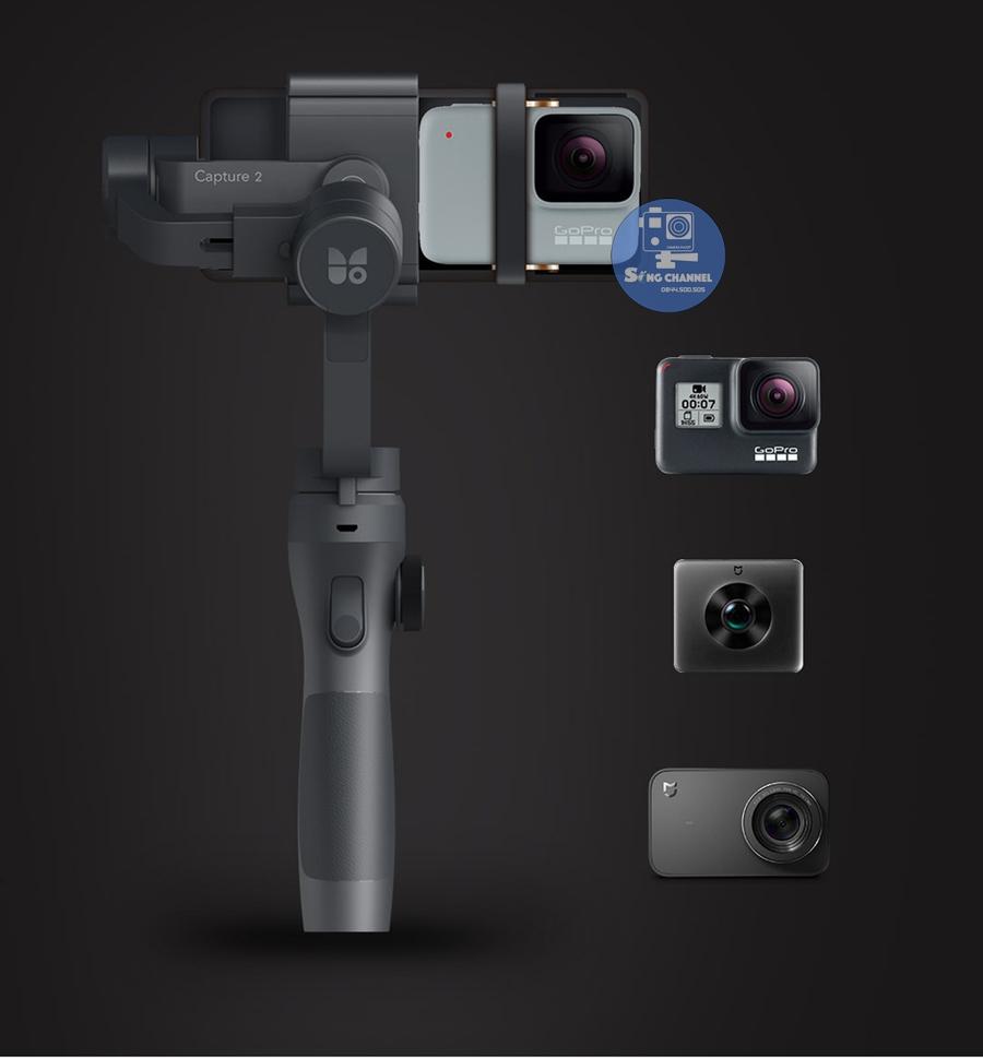 Gimbal Funsnap Capture 2 dùng cho được các dòng action camera, camera hành động
