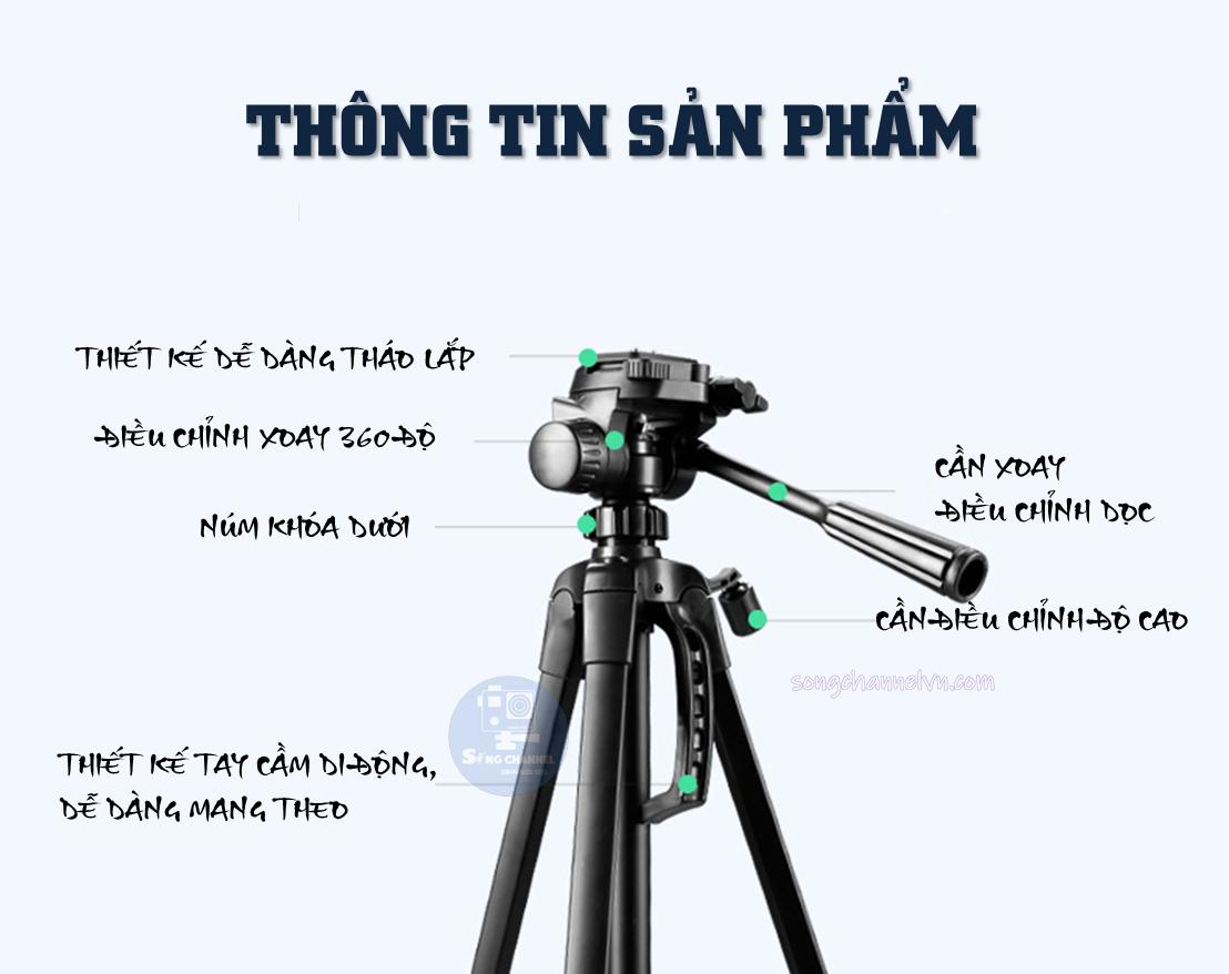 Thông số Tripod Weifeng WT-3520