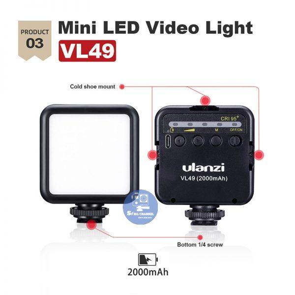 02 đèn led Ulanzi VL49- 49 bóng đèn led
