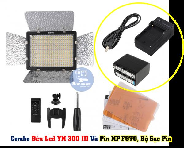 Combo YN 300 III và pin NP-F970