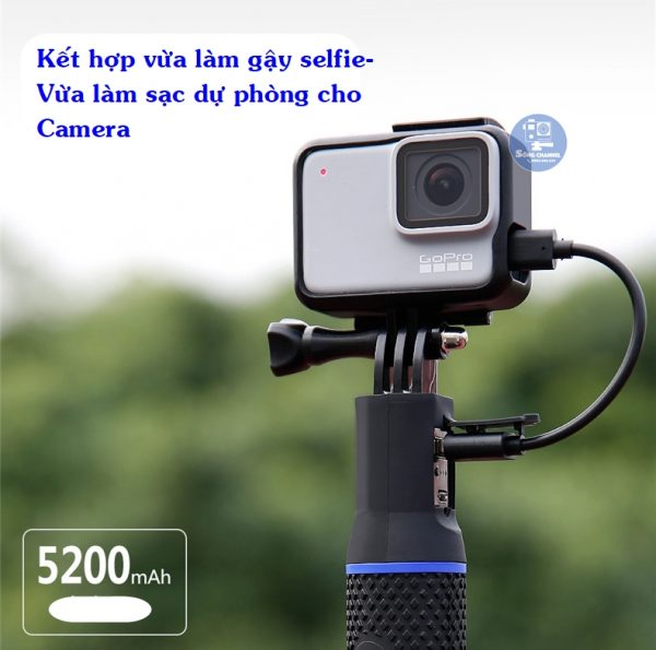 Gậy selfie kiêm sạc dự phòng Kingma tiện dụng