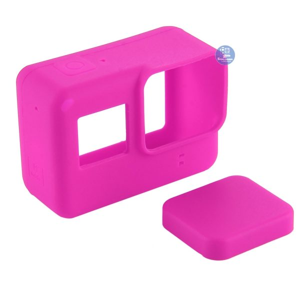 Case Silicon bảo vệ cho GoPro Hero 5, 6, 7 Black màu hồng