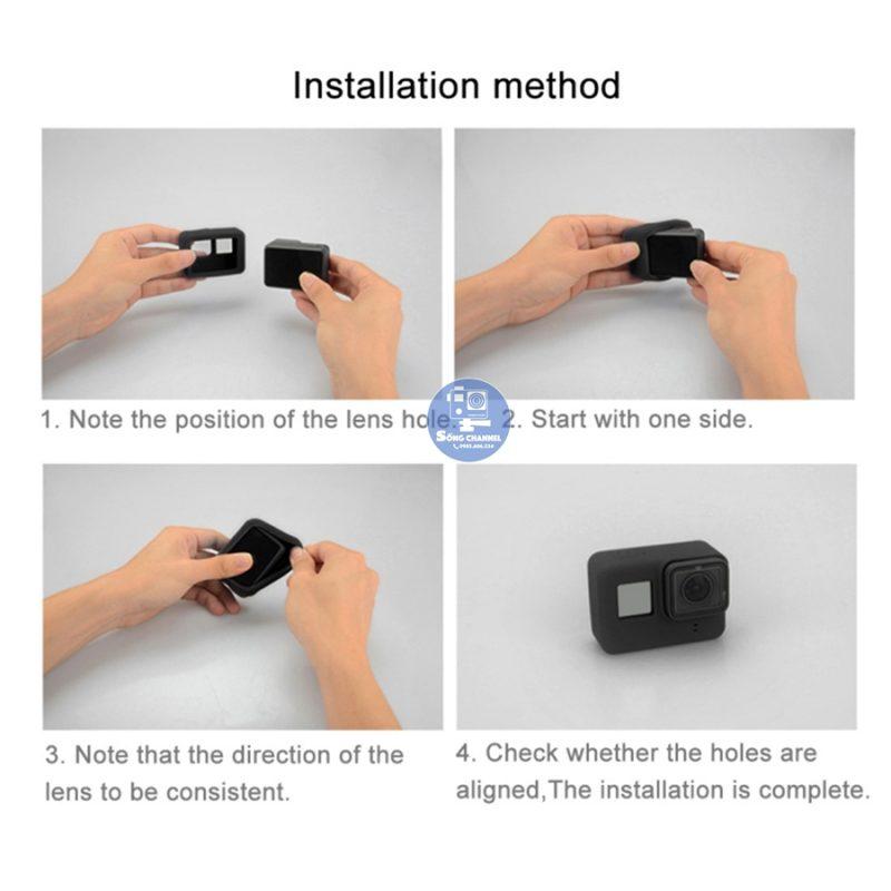 Case Silicon bảo vệ cho GoPro Hero 5, 6, 7 Black