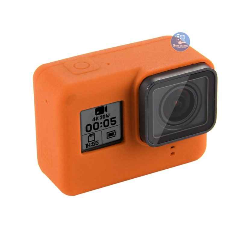 Case Silicon bảo vệ cho GoPro Hero 5, 6, 7 Black màu cam
