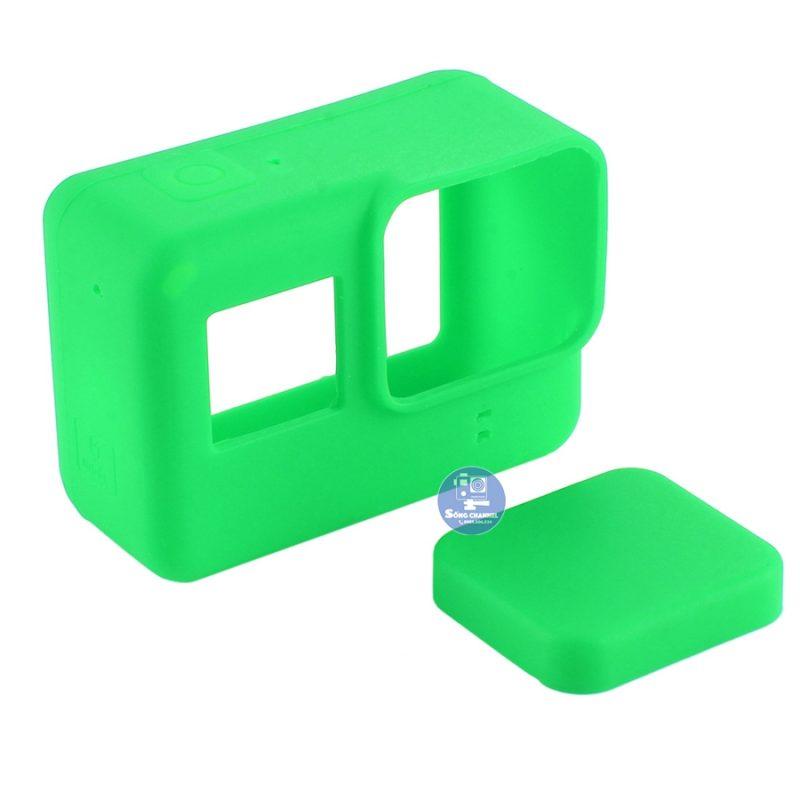 Case Silicon bảo vệ cho GoPro Hero 5, 6, 7 Black màu xanh lá mạ