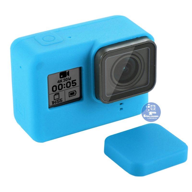 Case Silicon bảo vệ cho GoPro Hero 5, 6, 7 Black màu xanh ngọc