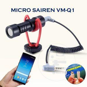 Mic Sairen VM-Q1 dùng được cho tất cả các dòng Điện Thoại Smartphone (Đối với các dòng không có jack tai nghe 3.5mm thì phải sử dụng cáp chuyển đổi)