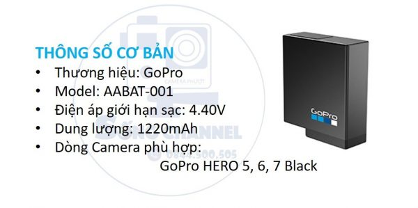 Pin GoPro chính hãng cho HERO 5, 6, 7