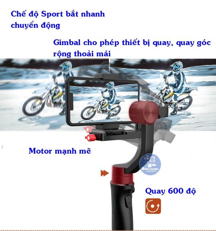 Gimbal chống rung cho máy ảnh loại nhỏ, Smarth phone, action camera, gopro