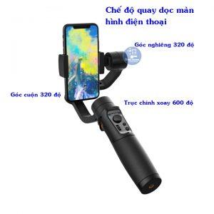 Gimbal Hohem iSteady Mobile + có thể quay ở chế độ dọc màn hình