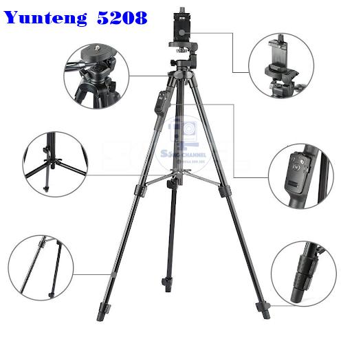 Cấu tạo Tripod-Yungteng-VCT-5208