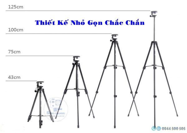 các chiều cao khác nhau Tripod chân máy Yunteng VCT 5208