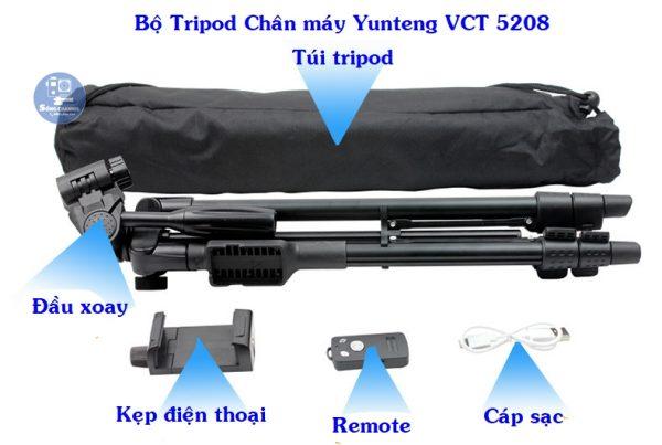 bộ tripod chân máy Yunteng VCT 5208