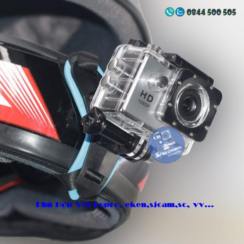 dây đeo gắn camera vào các dòng mũ bảo hiểm, mũ full face