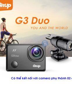 Camera Gitup G3 Duo Pro có thể gắn thêm 01 camera phụ