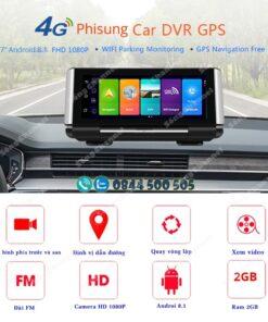 Camera hành trình đặt taplo ô tô Phisung K7